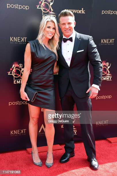 Sheree Gustin and Steve Burton attend the 46th annual Daytime Emmy Awards at Pasadena Civic Center on May 05 2019 in Pasadena California