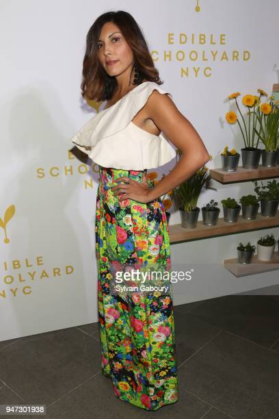 Sheree Hovsepian attends Edible Schoolyard NYC 2018 Spring Benefit at 180 Maiden Lane on April 16 2018 in New York City