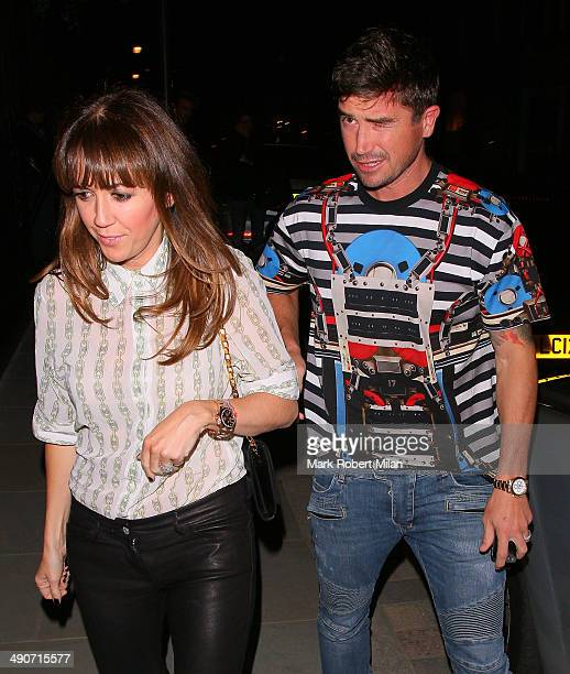 Sheree Murphy and Harry Kewell at the Chiltern Firehouse on May 14 2014 in London England