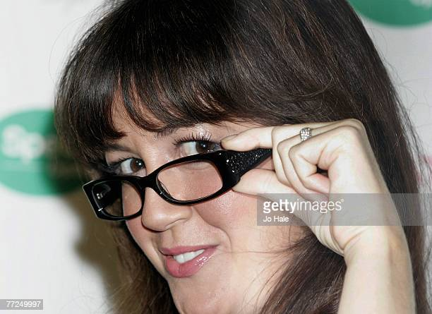 Sheree Murphy wins Spectacle Wearer Of The Year award along with DJ Colin Murray at the Hilton Hotel Aldwych on October 9 2007 in London England