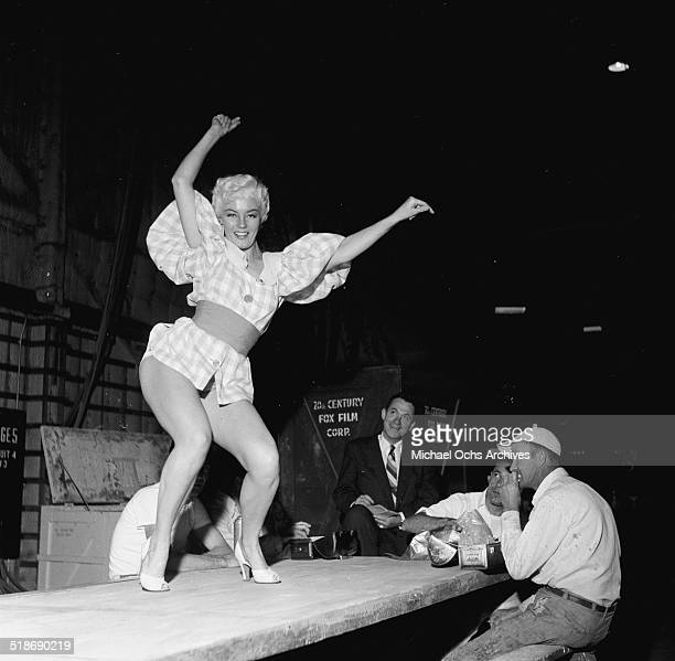 Sheree North gets ready for a TV Show in Los AngelesCA