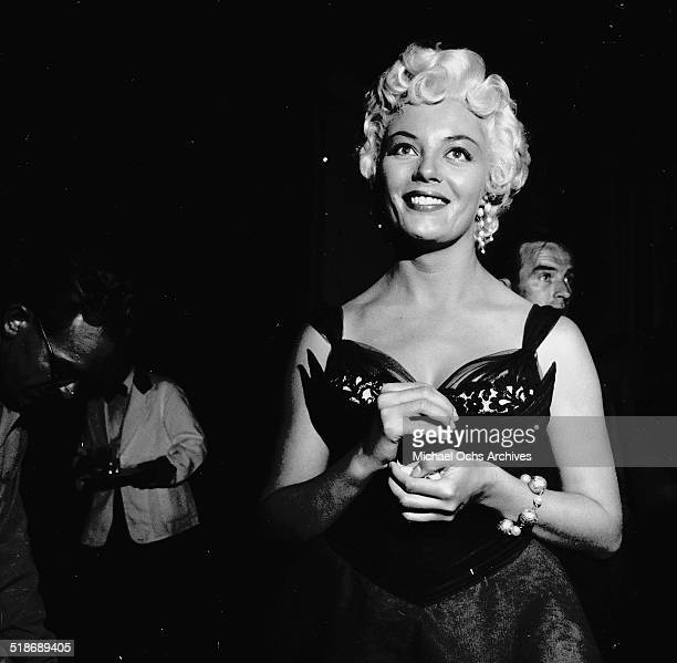 Sheree North gets ready for the Ed Sullivan Show in Los AngelesCA