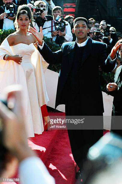 Sheree Smith and husband Will Smith during 1993 Emmy Awards Arrivals in Los Angeles, California.