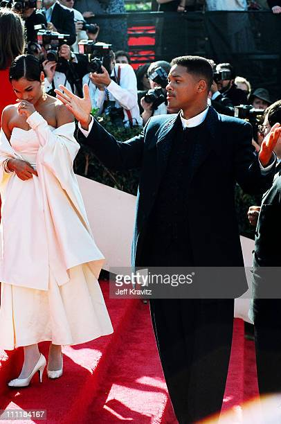 Sheree Smith and husband Will Smith during 1993 Emmy Awards Arrivals in Los Angeles California