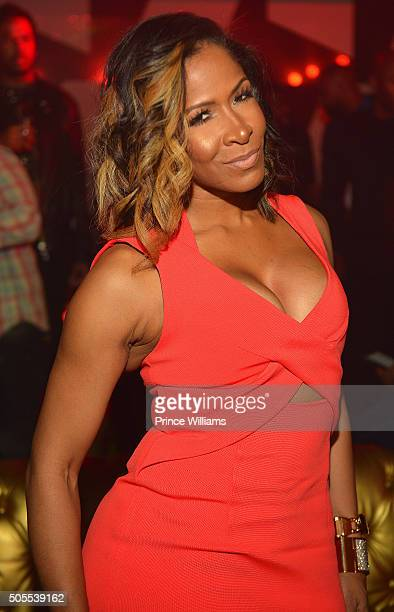 Sheree Whitfield attends an MLK celebration at Gold Room on January 17 2016 in Atlanta Georgia