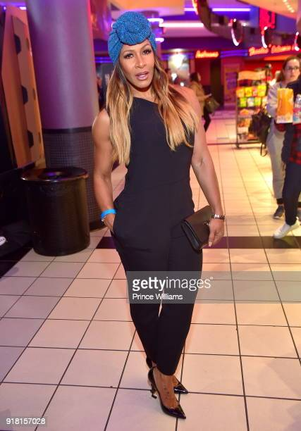 Sheree Whitfield attends 'Black Panther' Advance Screeninh at Regal Hollywood on February 13 2018 in Chamblee Georgia