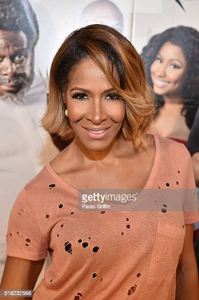 Sheree Whitfield attends the 'Barbershop THE NEXT CUT' Atlanta VIP Screening at Regal Atlantic Station on March 17 2016 in Atlanta Georgia