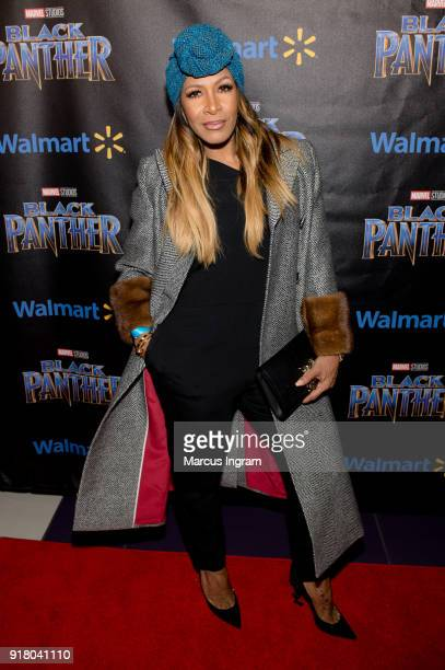 Sheree Whitfield attends the Marvel Studios Black Panther advance screening at Regal Hollywood on February 13 2018 in Chamblee Georgia