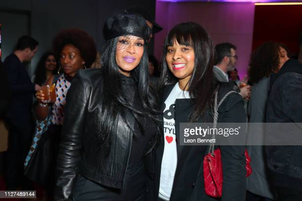 """Sheree Zampino and Mechelle McCain attend BET's """"American Soul"""" Los Angeles Premiere on February 04, 2019 in North Hollywood, California."""