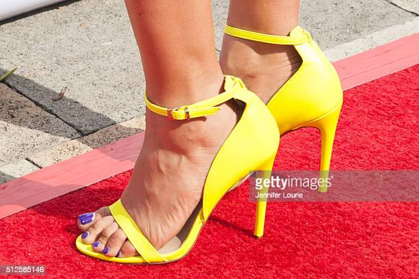 Sheree Zampino, shoe detail, arrives at the Gospel Goes To Hollywood event at the Vibiana on February 26, 2016 in Los Angeles, California.