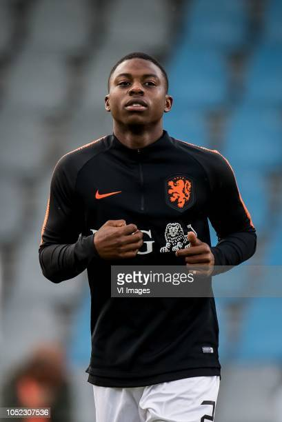 Sherel Floranus of Netherlands u21 during the EURO U21 2019 qualifying match between The Netherlands U21 and Ukraine U21 at the Vijverberg stadium on...