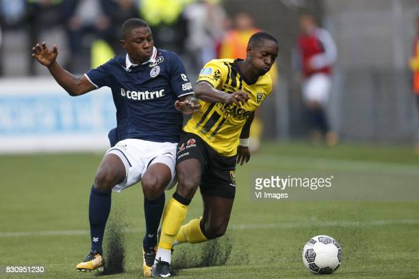 Sherel Floranus of Sparta Rotterdam Torino Hunte of VVVVenlo during the Dutch Eredivisie match between VVV Venlo and Sparta Rotterdam at Seacon...