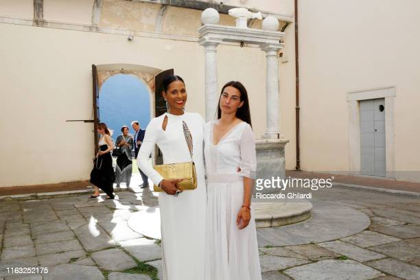 Sherett Dahlstrom and Annalisa Bugliani attend the museum show opening for Rachel Lee Hovnanian's Open Secrets at Palazzo Mediceo Seravezza Italy on...