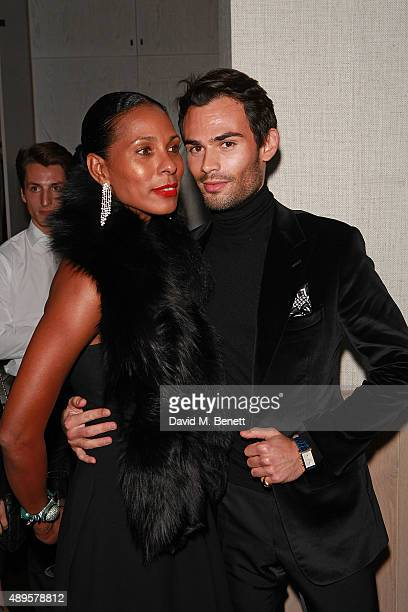 Sherett Dahlstrom and Mark Francis Vandelli attend an after party for the exclusive viewing of 'McQueen' hosted by Karim Al Fayed for Lonely Rock...