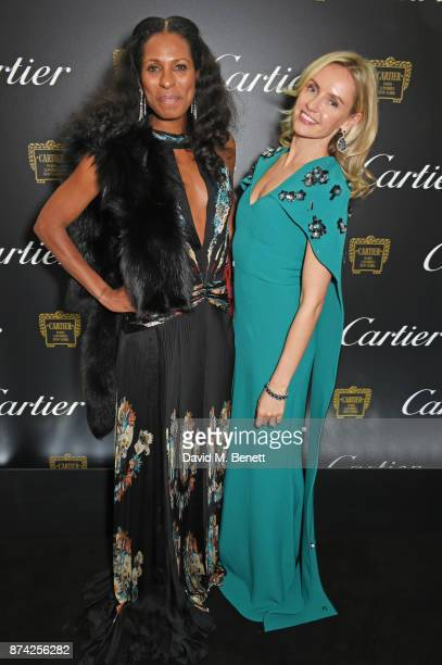 Sherett Dahlstrom and Nadya Abela attend The Cartier Racing Awards 2017 at The Dorchester on November 14 2017 in London England