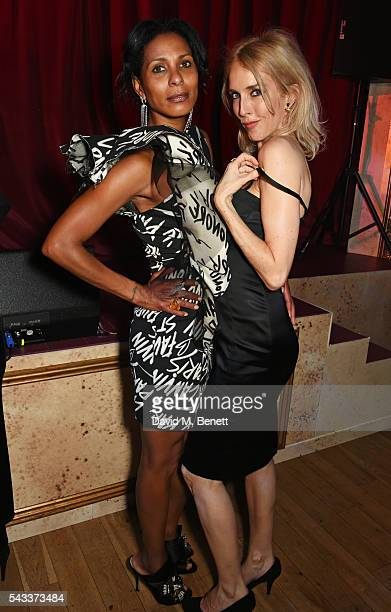 Sherett Dahlstrom and Sarah Woodhead attend the Summer Gala for The Old Vic at The Brewery on June 27 2016 in London England