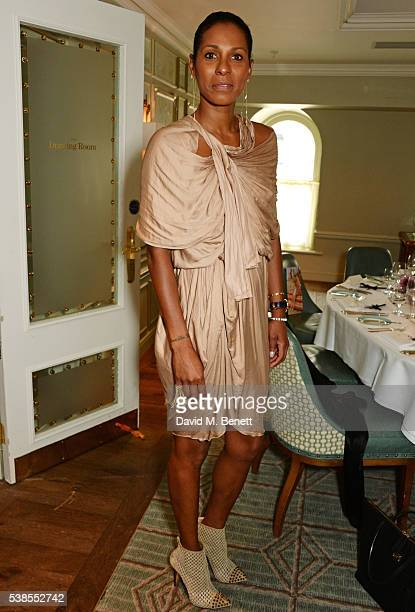 Sherett Dahlstrom attends a lunch hosted by Tamara Beckwith and Alessandra Vicedomini to celebrate luxury fashion brand Vicedomini at Fortnum Mason...