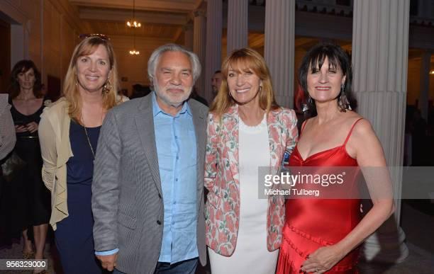 Sheri Ingle David Green Jane Seymour and Sharon Harroun attend BritWeek at The Getty Villa on May 8 2018 in Pacific Palisades California