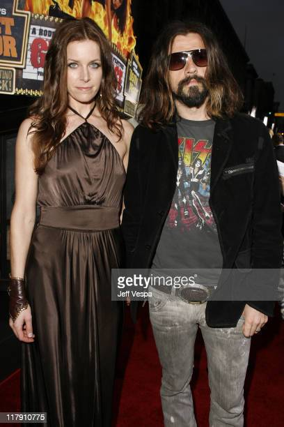 Sheri Moon and Rob Zombie during Grindhouse Los Angeles Premiere Red Carpet at Orpheum Theater in Los Angeles California United States