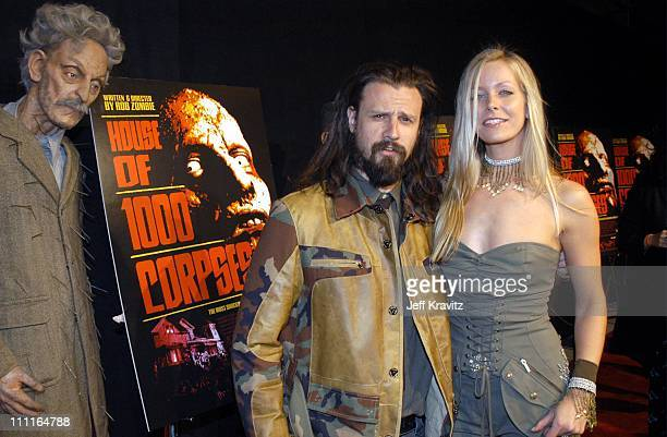 Sheri Moon and Rob Zombie during LionsGate Films' House of 1000 Corpses Premiere at ArcLight Cinemas in Hollywood CA United States
