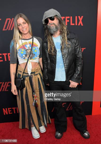 Sheri Moon Zombie and Rob Zombie attend the premiere of Netflix's 'The Dirt at the Arclight Hollywood on March 18 2019 in Hollywood California