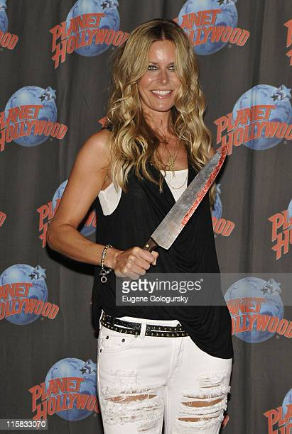 Sheri Moon Zombie donates memoribilia from Halloween II at Planet Hollywood on August 18 2009 in New York City