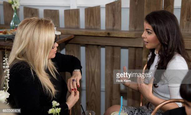 Sheri Salata and Caroline Ghosn attend Twitter's #SheInspiresMe brunch during SXSW at Bar 96 on March 11 2017 in Austin Texas