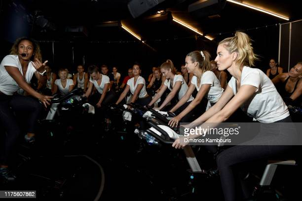 Sherica Holmon joins Victoria's Secret Angels cycle to end cancer hosted by Angels Martha Hunt Josephine Skriver Alexina Graham Chey Carty Gizele...