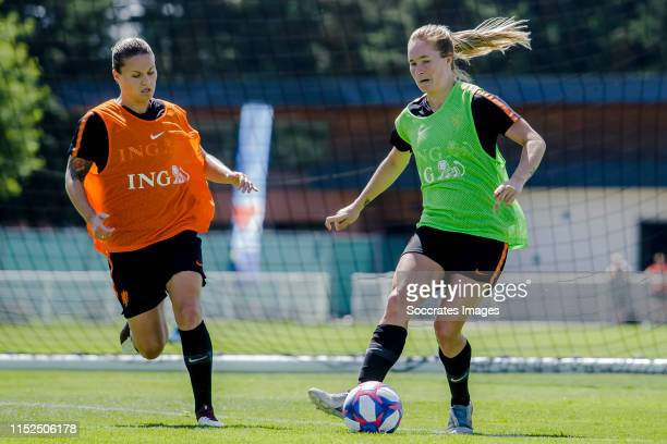 Sherida Spitse of Holland Women, Desiree van Lunteren of Holland Women during the Training Holland Women at the Stade Christopher Laurent on June 28,...