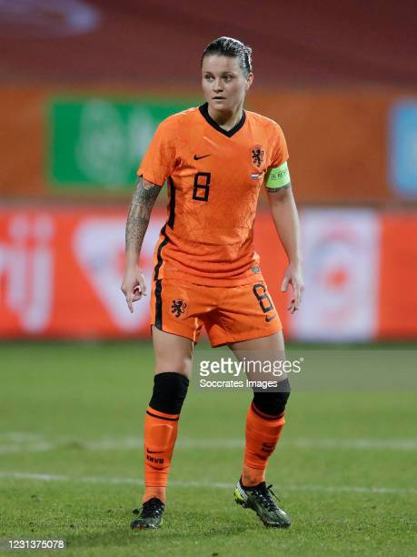 Sherida Spitse of Holland Women during the International Friendly Women match between Holland v Germany at the Seacon Stadium - De Koel on February...