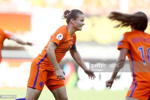 Sherida Spitse of Holland Women during the UEFA WEURO 2017 final match between The Netherlands and Denmark at the Grolsch Veste on August 06 2017 in...
