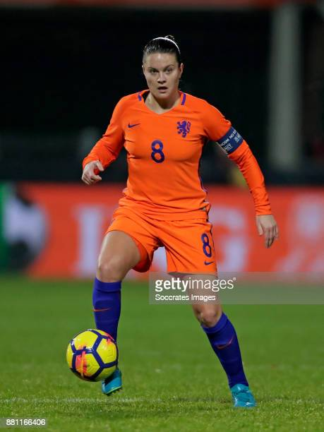 Sherida Spitse of Holland Women during the World Cup Qualifier match between Holland v Republic of Ireland at the Goffert Stadium on November 28 2017...