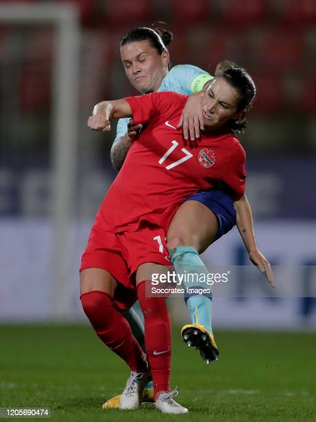 Sherida Spitse of Holland Women Jessie Fleming of Canada Women during the International Friendly Women match between Canada v Holland at the Stade de...