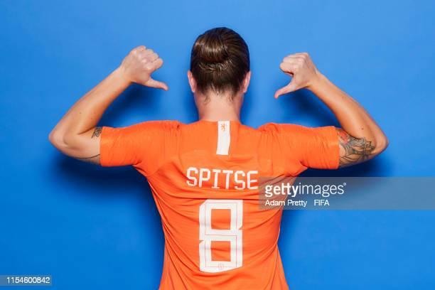Sherida Spitse of the Netherlands poses for a portrait during the official FIFA Women's World Cup 2019 portrait session at Hotel Novotel Le Havre...