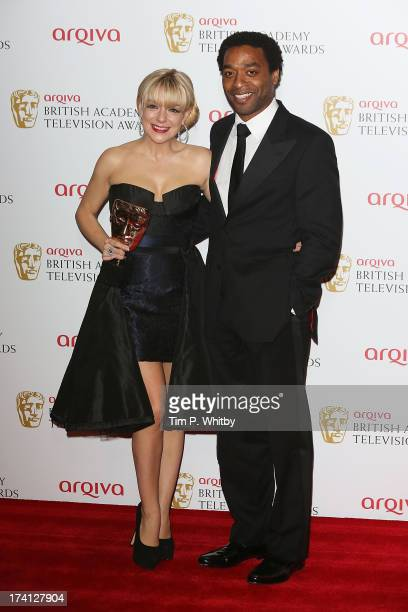 Sheridan Smith and Chiwetel Ejlofor pose in the press room at the Arqiva British Academy Television Awards 2013 at the Royal Festival Hall on May 12...
