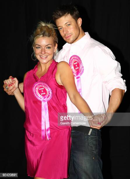Sheridan Smith and Duncan James take a break from rehearsals for Legally Blonde the musical to support 'Wear It Pink' on October 28 2009 in London...