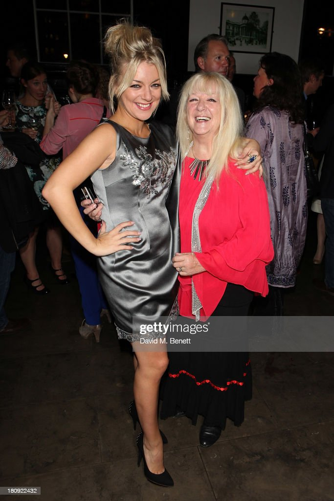 Sheridan Smith and her mother Marilyn Smith attend an after party following her press night performance of 'A Midsummer Night's Dream' at The National Cafe on September 17, 2013 in London, England.