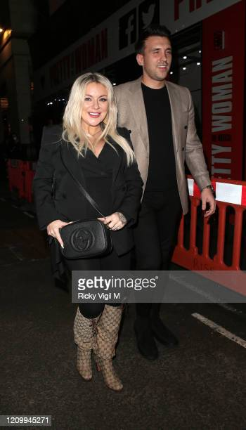 Sheridan Smith and Jamie Horn seen attending Pretty Woman - press night at Piccadilly Theatre on March 02, 2020 in London, England.