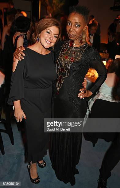 Sheridan Smith and Noma Dumezweni attend The 62nd London Evening Standard Theatre Awards after party recognising excellence from across the world of...