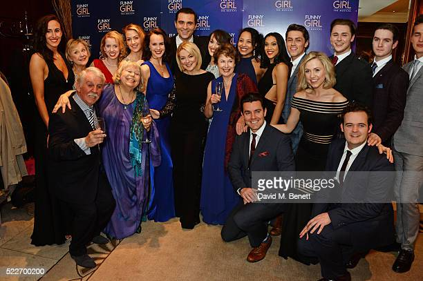 Sheridan Smith Darius Campbell and the cast of 'Funny Girl' pose at the press night after party for 'Funny Girl' at The Waldorf Hilton Hotel on April...