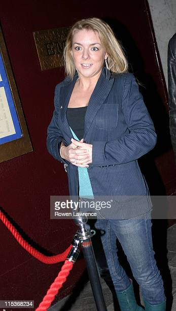 Sheridan Smith during Will Mellor's Birthday Party at The Embassy Club March 27 2005 at The Embassy Club in London Great Britain
