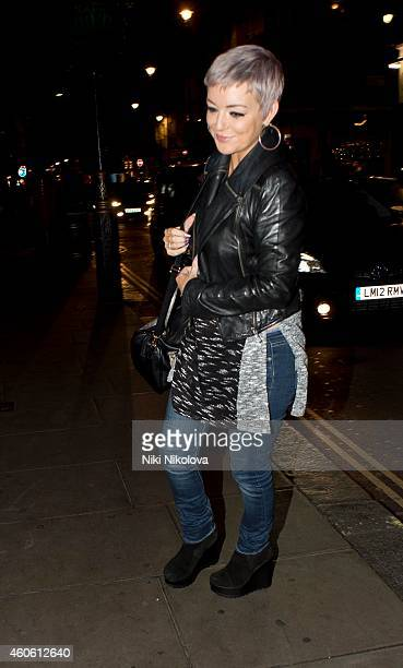 Sheridan Smith is seen arriving at Groucho Club Soho on December 17 2014 in London England