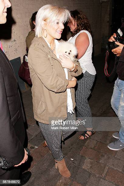 Sheridan Smith leaving the Savoy Theatre after her performance in Funny Girl on August 9 2016 in London England