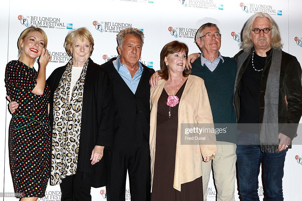 Sheridan Smith, Maggie Smith, Dustin Hoffman, Pauline Collins, Tom Courtney and Billy Connolly attends the Photocall for 'Quartet' at the BFI London Film Festival at Empire Leicester Square on October 15, 2012 in London, England.