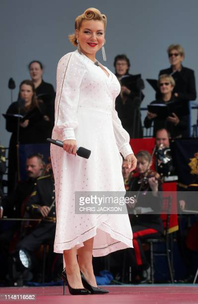Sheridan Smith performs during an event to commemorate the 75th anniversary of the DDay landings in Portsmouth southern England on June 5 2019 US...