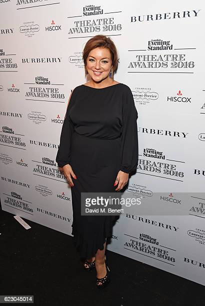 Sheridan Smith poses in front of the winners boards at The 62nd London Evening Standard Theatre Awards recognising excellence from across the world...