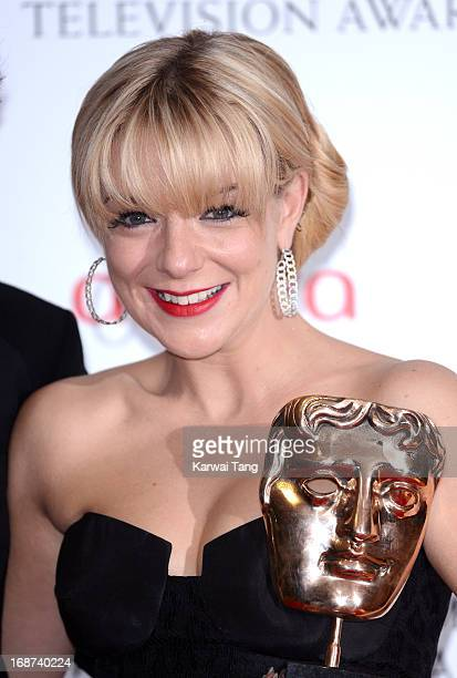 Sheridan Smith poses in the press room at the Arqiva British Academy Television Awards 2013 at the Royal Festival Hall on May 12 2013 in London...