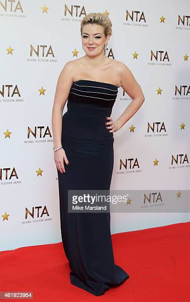 Sheridan Smith poses in the winners room at the National Television Awards at 02 Arena on January 21 2015 in London England