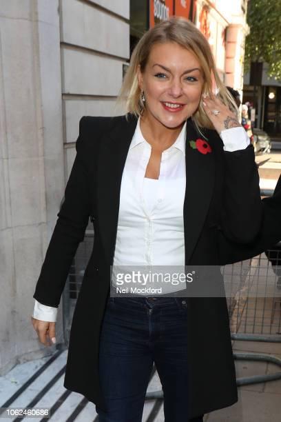 Sheridan Smith seen at BBC Radio 2 on November 02 2018 in London England