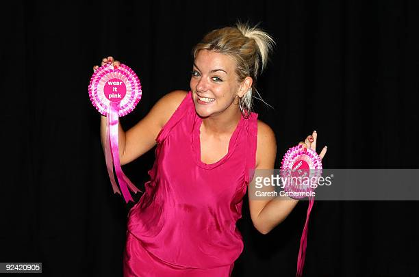 Sheridan Smith takes a break from rehearsals for Legally Blonde the musical to support 'Wear It Pink' on October 28 2009 in London England On Friday...